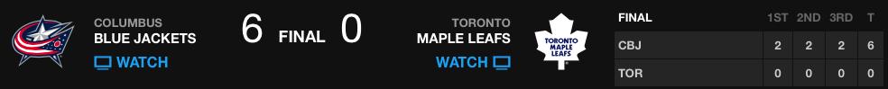 20131125_Blue Jackets@Leafs_Banner