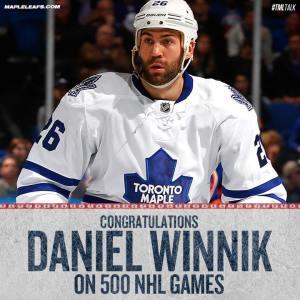 Daniel Winnik_500NHLGames